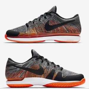Nike Court Zoom Vapor Flyknit Hard Court Shoes NWT